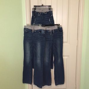Justice Girls Set of 3 Jeans Size 16